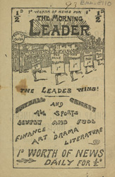 Advert for the 'Morning Leader', newspaper